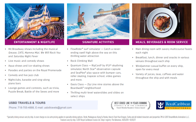 Royal Caribbean AD – USBD Travels & Tours